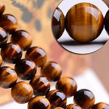 Tigerauge Edelstein Perlen 8mm * AAA Qualität * Rund Natursteine G58