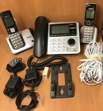 VTech CS6649 + 2 Handsets Cordless & Corded Home Phone with Answering System