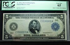 1914 $5 Philadelphia Note *PCGS-65* *James A. Kadin, M.D. Collection*