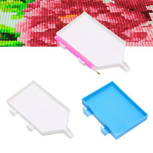 DIY Diamond Painting Rhinestone Tray Embroidery Drill Plate with Pen Holder