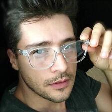 CLEAR LENS FRAME Fashion Glasses Vintage Hipster Style NERD GEEK RETRO BLACK