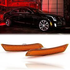 14-18 Cadillac ATS/CTS Front Panel LED Amber Side Marker Lamp Set Diode Dynamics