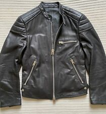 TOM FORD Mens Slim-Fit Leather Jacket Italian 46/UK Small