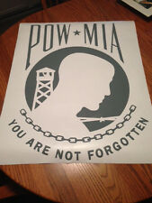 HUGE 28X21.5 POW MIA DECAL STICKER ANY COLOR SEE CHART AMERICA USA