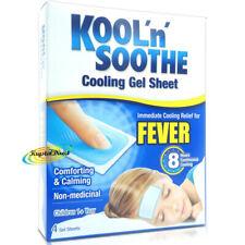 Kool 'n' Soothe Soft Gel Children Kids Fever Immediate Cooling Relief 4 Sheets