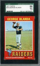 1971 Topps # 39 George Blanda Oakland Raiders Graded Card SGC 86 = 7.5