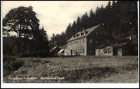 Rautenkranz Vogtland DDR Postkarte ~1956 Partie am Ferienheim Frischhütte