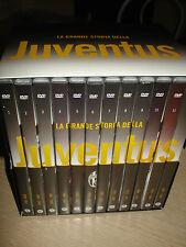 BOX COFANETTO 12 DVD LA GRANDE STORIA DELLA JUVENTUS JUVE FC SCIREA DEL PIERO