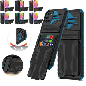 Card Holder Shockproof Heavy Duty Case Cover for Samsung A12 A52 A32 A72 A03S