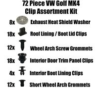 Assortment of Common Trim Clips & Fasteners for VW Golf MK4 72 Piece Kit