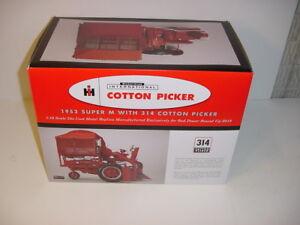 1/16 Red Power Round Up Farmall Super M W/ Mounted 314 1-Row Cotton Picker NIB!