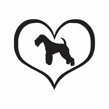 Heart Lakeland Terrier Dog Love - Decal - Multiple Color & Sizes - ebn1479