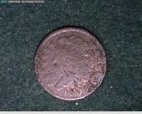 1809 1/2C Classic Head Half Cent 1/2 cent penny ( 9s209 )
