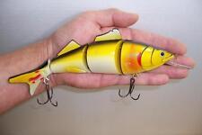 SWIM BAIT FOUR SEGMENT FISHING LURE MINNOW CRANKBAIT RATTLE BAIT TACKLE 23cm SB1