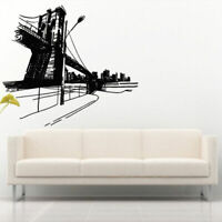Wall Decal Sticker Vinyl Decor Bedroom Bridge City House River Water M914