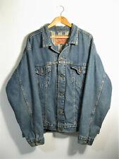 LEVI'S | Men's 70699 Blue Denim Check Flannel Lined Trucker Jacket | Size XL