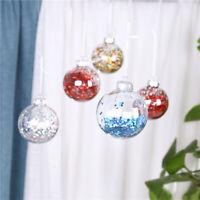 Weihnachten Pailletten Ball Klar Kugel 6CM Weihnachtsbaum Anhänger Hochzeit Deko