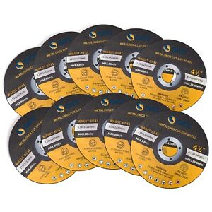 """10 Pack Cut Off Wheels 4-1/2"""" Metal & Stainless Steel Angle Grinder Cutting Disc"""