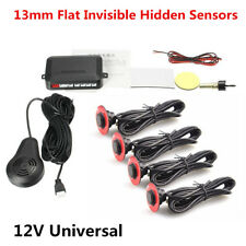 13mm Flat Invisible Hidden Parking Sensors Car Reversing Radar Buzzer Alarm Kit