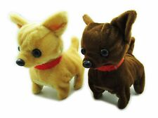 Walking, Moving, Barking, Tail Wagging Plush Baby Mini Chiwawa dog Random Color