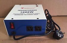 CONVERTER TRANSFORMER STEP DOWN 1000W 220V TO 110V FOR USE YOUR USA APPLIANCES