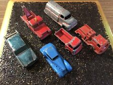 Lot of 6 vintage toy cars. Tootsie Toy, Matchbox. All metal!