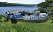 INTEX Excursion 4 Inflatable River/Lake Raft Set   68324EP (Open Box)