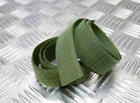Genuine British / NATO Olive Green 30mm Rip n Grip Hook & Loop Sewing Strips