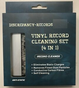 Discrepancy Records LP Vinyl Cleaning Kit Anti-Static Carbon Fibre Brush, Stylus