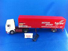 Scania Sattelzug Motorsport Renntransporter Herpa 822054 DTT