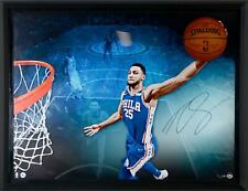"""Ben Simmons 76ers Framed Signed 52"""" x 40"""" Breaking Through Photo - LE 125 - UD"""