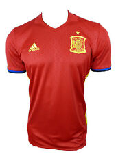 b74b21b4d48 adidas Mens UEFA Euro 2016 Spain Home Football Player Jersey Shirt Red M