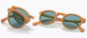OLIVER PEOPLES GREGORY PECK 1962 Folding Sunglasses OV5456SU 169956 Amber &Blue