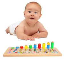 Preschool Wooden Montessori Kids Children Counting Math Match Early Learning Toy