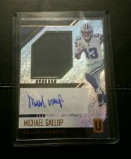 Michael Gallup Rookie Patch Auto 2018 Panini Unparalleled CSU Cowboys Autograph