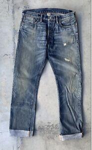 Double RRL Men's Slim Straight Selvedge light Denim Jeans 31x32