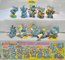 KINDER SURPRISE SERIE FUNNY ELEPHANT SPORTS BEACH FERRERO CAKE TOPPERS +PAPER
