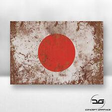 Japanese Japan Flag Rusty Grunge JDM Drift Car, Bike, Laptop Vinyl Decal Sticker