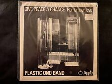 "Plastic Ono Band - Give Peace a Chance 7"", MINT/Sealed orig. Apple 45 rpm P/S"