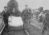German soldiers helping refugees in Antwerp Belgium 1914 World War I 8x10 Photo