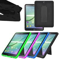 "Hybrid Silicone Combo Box Case Stand Cover for Samsung Galaxy Tab S2 9.7"" Tablet"