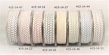May Arts 7mm White Mini Polka Dot Ribbon - sold by the metre