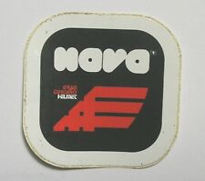 VECCHIO ADESIVO MOTO / Old Sticker Vintage NAVA HELMET CASCO (cm 12 x 12)