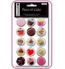LOT 15 GROS BRADS EPOXY ATTACHES CUPCAKES SCRAPBOOKING