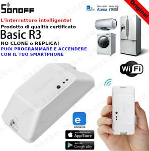 Domotica interruttore WiFi sonoff comandato da smartphone APP e NEST  NEW 2021R3