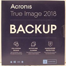 Acronis True Image 2018 3 Devices Sealed For PC & Mac Backup & Recovery [CD-ROM]