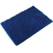 "VDOMUS Non-slip Bath Mat Microfiber Bathroom Mats Shower Rugs 20""*32"" Blue"