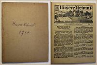 Unsere Heimat Beilage Wochenblatt für Wilsdruff 1914 Sachsen Geschichte sf