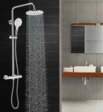 Solepearl Thermostat Shower System, Wall Mounted Circular Chrome Bathroom Shower