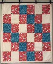 Animals Unisex Baby Quilt Boys Girls Dogs Bears Cats Bunny Handmade Cotton New